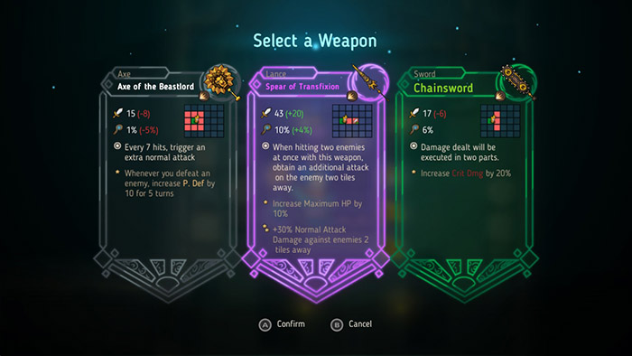 Select a Weapon in Crown Trick
