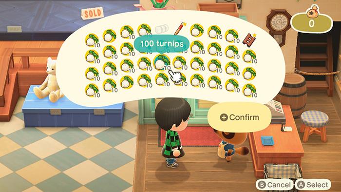 Selling Turnips in Animal Crossing: New Horizons