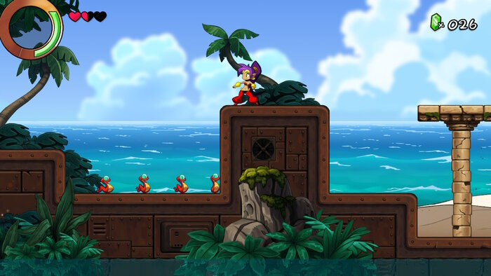 Stage Backgrounds in Shantae and the Seven Sirens