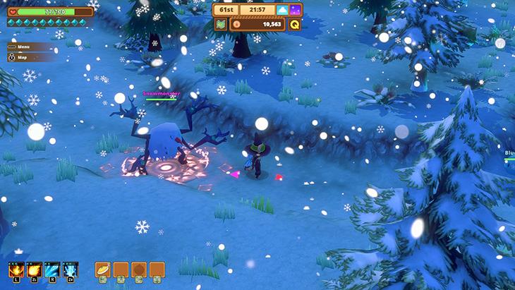Snowmonster Boss in Kitaria Fables