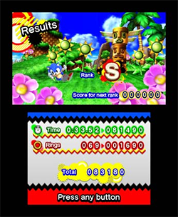 Sonic Generations for 3DS Gameplay