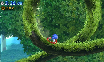 Sonic running - Sonic Generations for 3DS