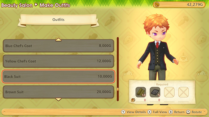 Changing outfit in Story of Seasons: Pioneers of Olive Town