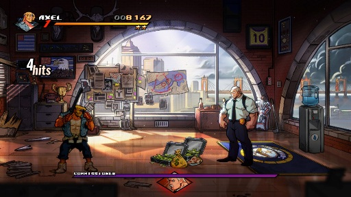 Streets of Rage 4 Commisioner Boss Fight Axel
