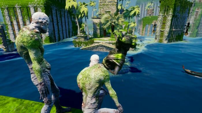 Submerged Moss Men