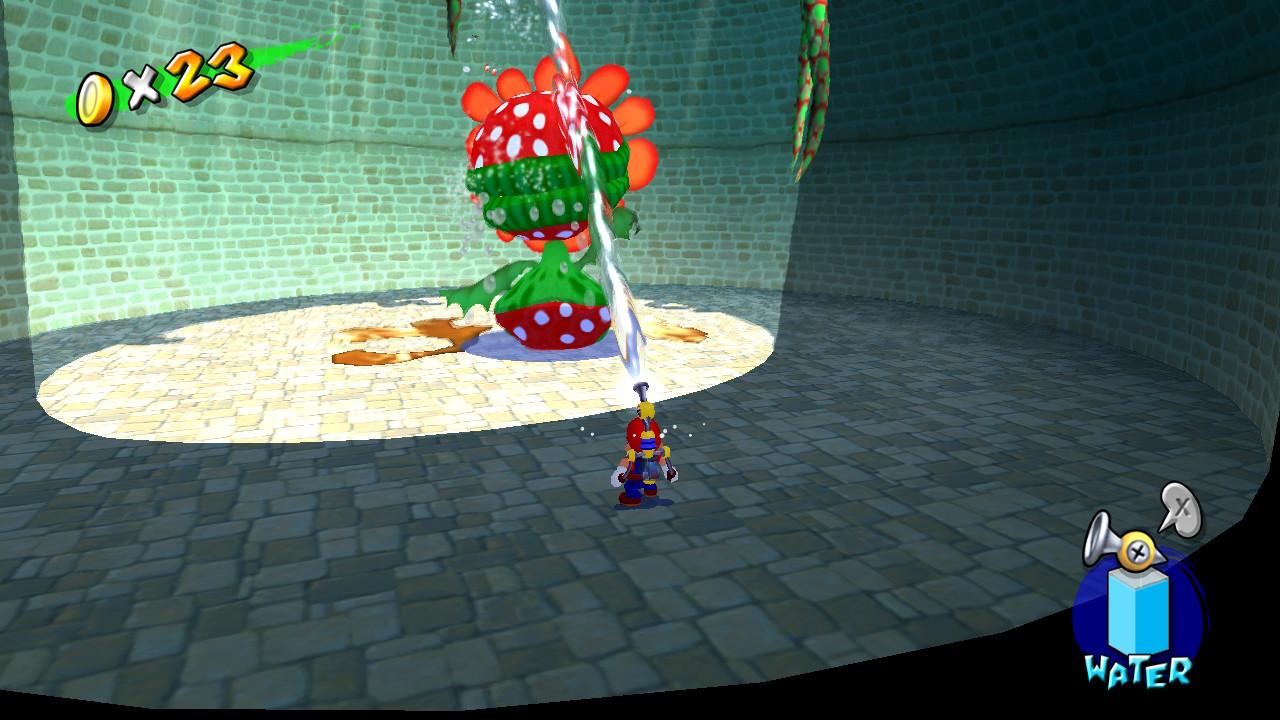 Super Mario Sunshine Boss Battle on the Nintendo Switch