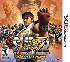 Super Street Fighter IV 3D Edition 3DS Game Box Cover Art