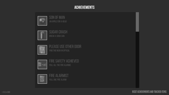 Achievements in Superliminal