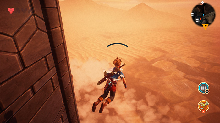 Swimming in the sky glitch in Oceanhorn 2: Knights of the Lost Realm