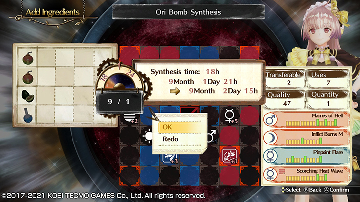 Synthesis System in Atelier Lydie & Suelle DX