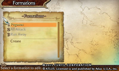 Creating different battle formations in The Legend of Legacy