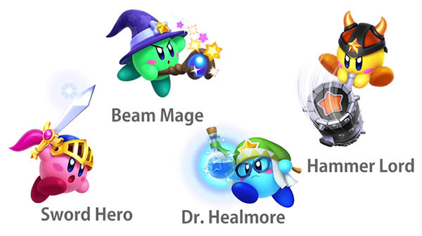Differences Between Roles in Team Kirby Clash Deluxe