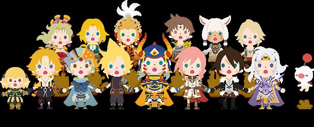 Theatrhythm Final Fantasy: Curtain Call Characters