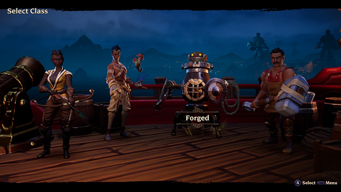 Character Selection Screen in Torchlight III