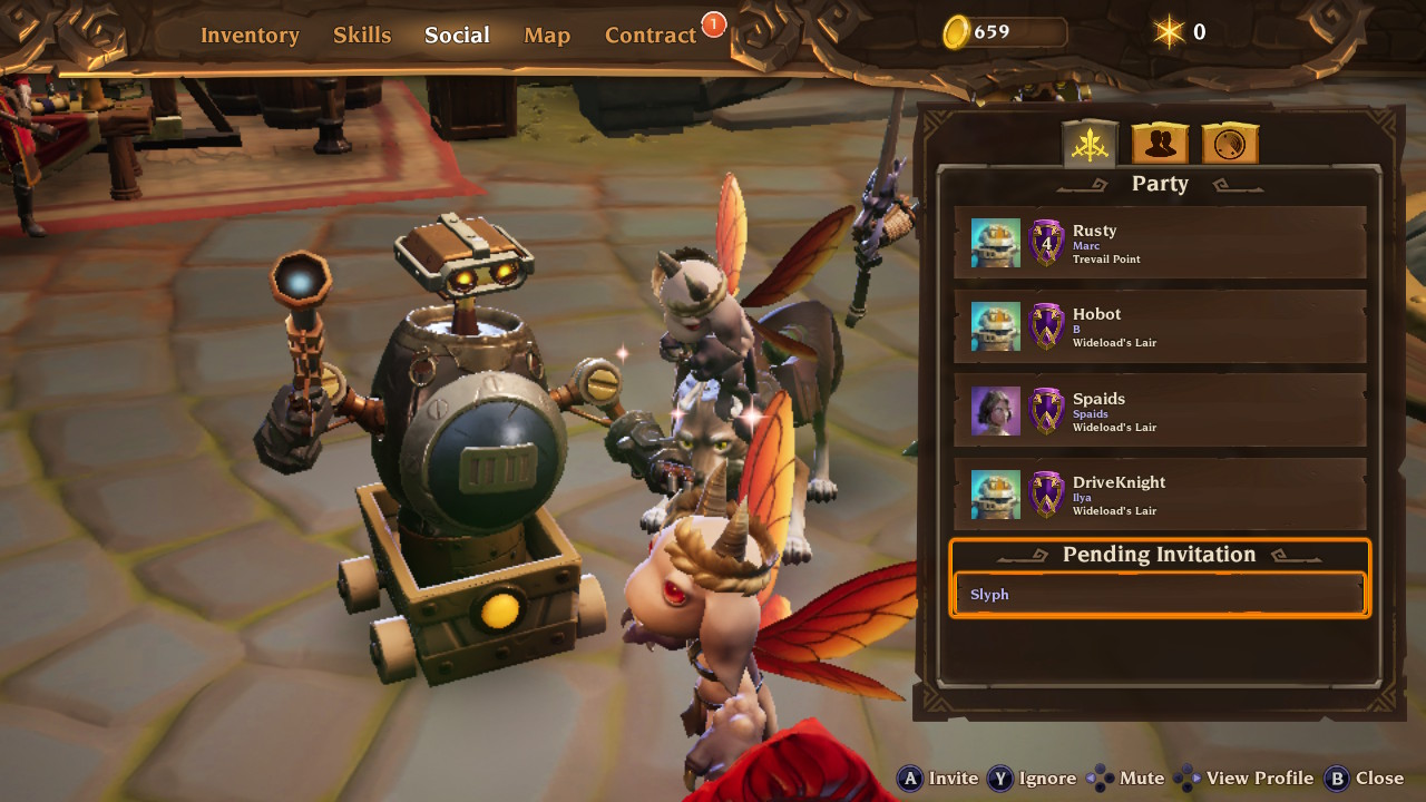 Multiplayer Party in Torchlight III