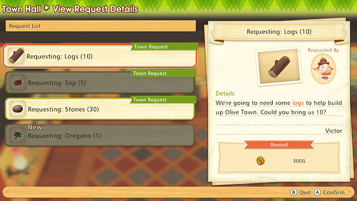 Town Requests - Story of Seasons: Pioneers of Olive Town