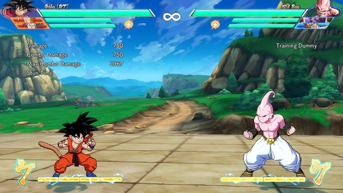 A match in Dragon Ball FighterZ