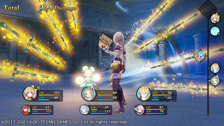 Using a skill in Atelier Lydie & Suelle DX