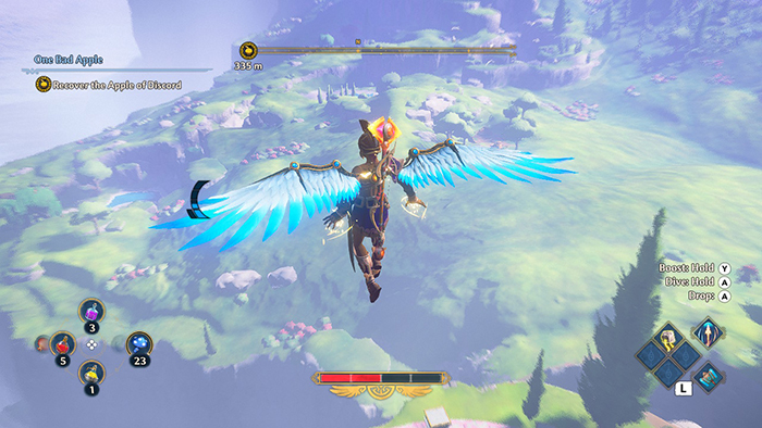 Using wings in Immortals Fenyx Rising