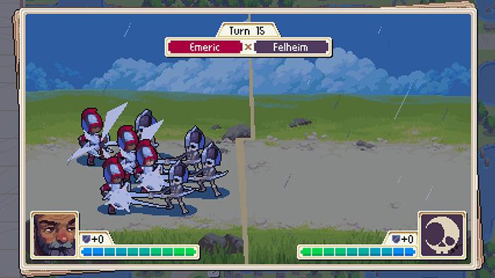 Wargroove Battle Scene Gameplay