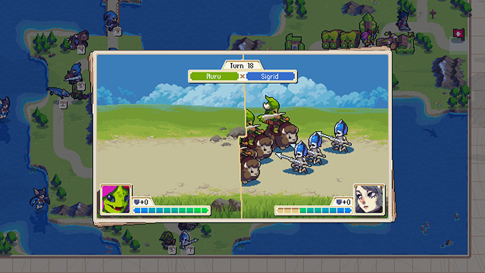 Wargroove Battle Scene Gameplay