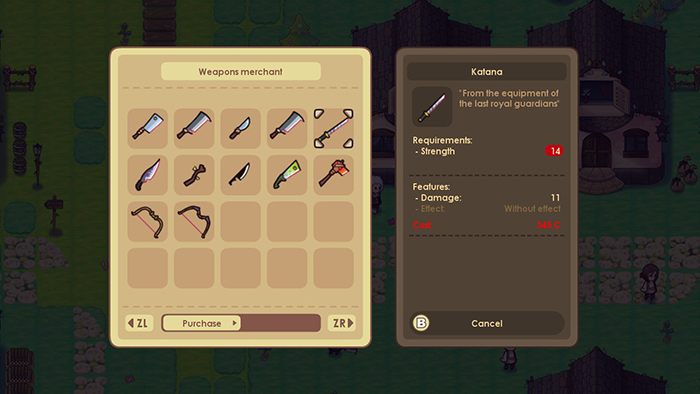 Weapons in WeakWood Throne