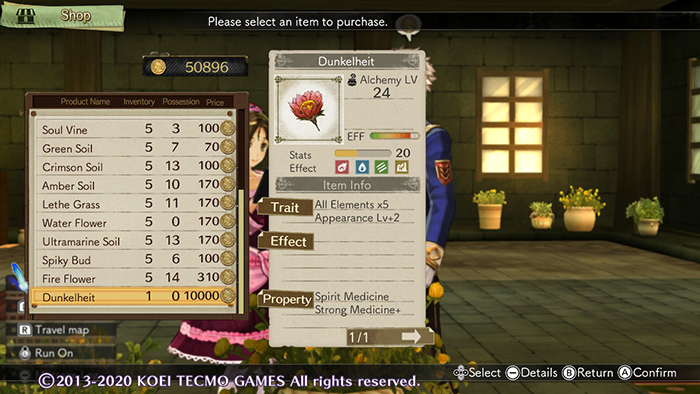 Buying Dunkelheit in Atelier Escha & Logy: Alchemists of the Dusk Sky DX