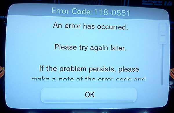 Splatoon error code 001-0502 in online multiplayer