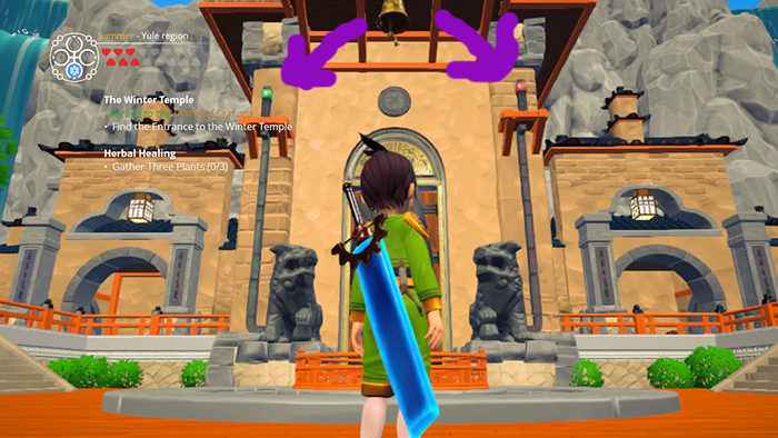 Winter Temple Entrance in Ary and the Secret Of Seasons