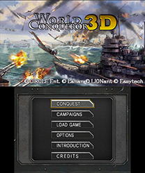 World Conqueror 3D Menu