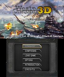 World Conqueror 3D Menu
