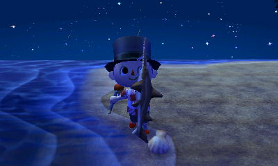 I caught a shark in Animal Crossing: New Leaf