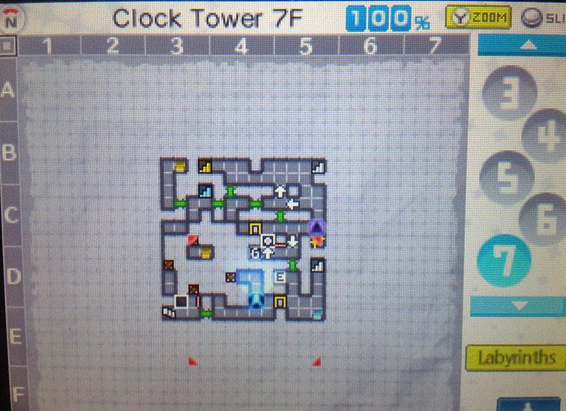 Clock Tower Floor 7 in Persona Q