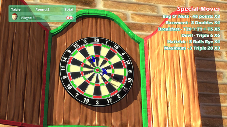 Darts Up Gameplay (Wii U)