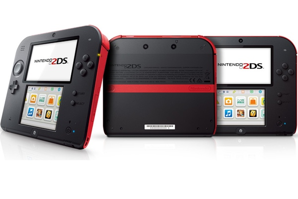Different sides of the Nintendo 2DS