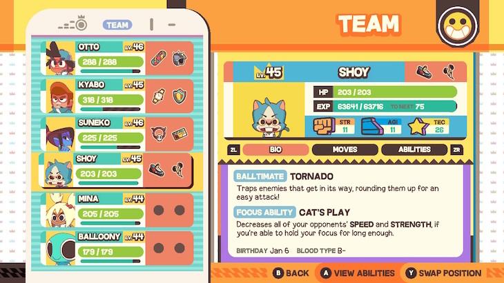 Team building screen
