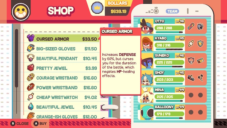 Shop to buy equipment