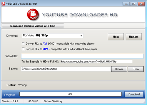 Downloading the video