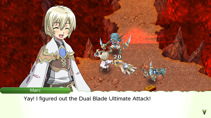 Dual Blade Attack in Rune Factory 4 Special