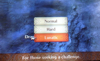 Changing difficulty in Fire Emblem Fates