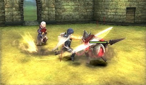 Attacking enemies in Fire Emblem Awakening