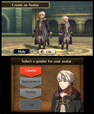 Creating an Avatar in Fire Emblem Awakening