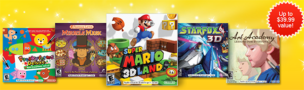 Free $40 value Nintendo 3DS Games
