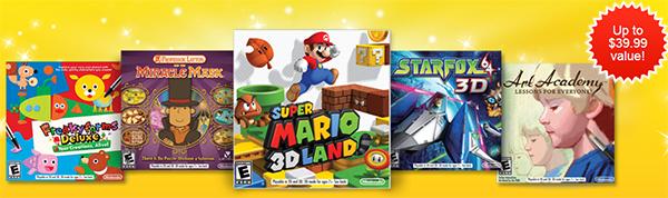Free $40 value Nintendo 3DS Games