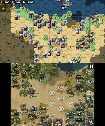 Glory of Generals Gameplay (3DS eShop)