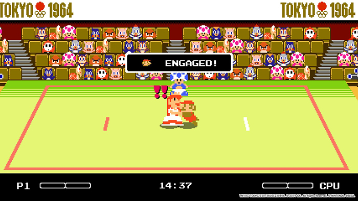 Retro Judo mini game from Mario & Sonic at the Olympics Tokyo 2020