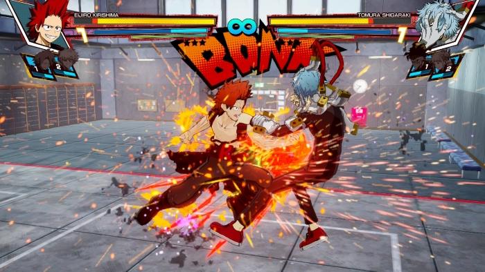 Kirishima Attacks in My Hero: One's Justice