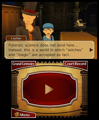 Professor Layton vs Phoenix Wright Gameplay