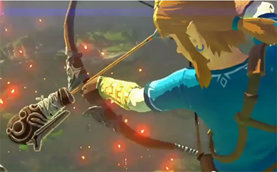Is Link wearing a Blue Shirt in this Zelda Wii U Trailer?