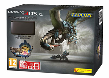 Black 3DS XL with Monster Hunter 3 Ultimate Bundle